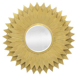 """Bevel Gold Round Mirror 42"""""""