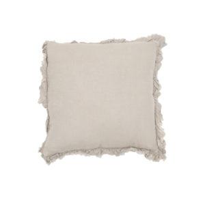 20Inch Natural Ruffled Pillow