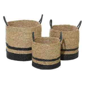 Black Seagrass Basket SM